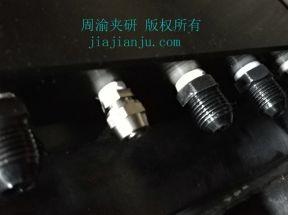 液压夹具进油位置接口示意图