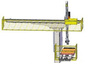 [自动化夹具案例分享]缸套加工车床上下料桁架机器人