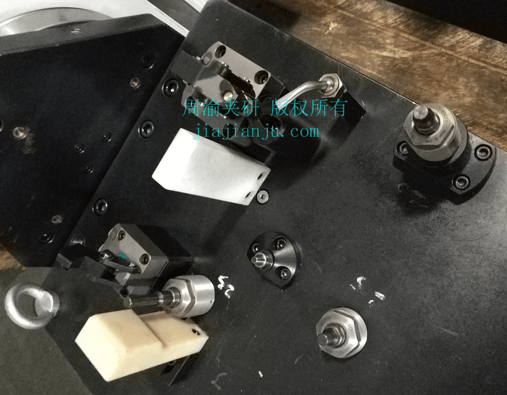 夹具蓝色限位块与白色PVC限位粗定位  限位防呆 夹具零部件 第1张